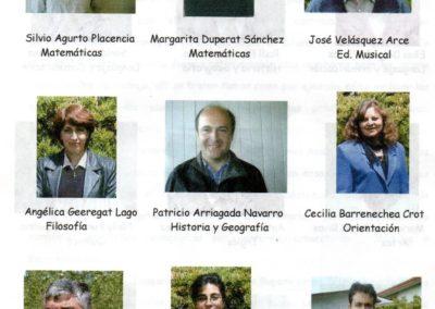 Profesores liceo gorbea 2003