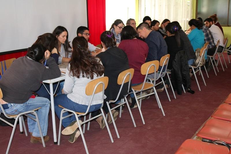 Se reúnen coordinadores y pie y UTP de cada Establecimiento Educacional Municipal