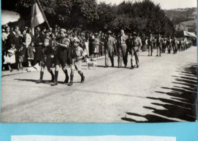 brigada en el desfile
