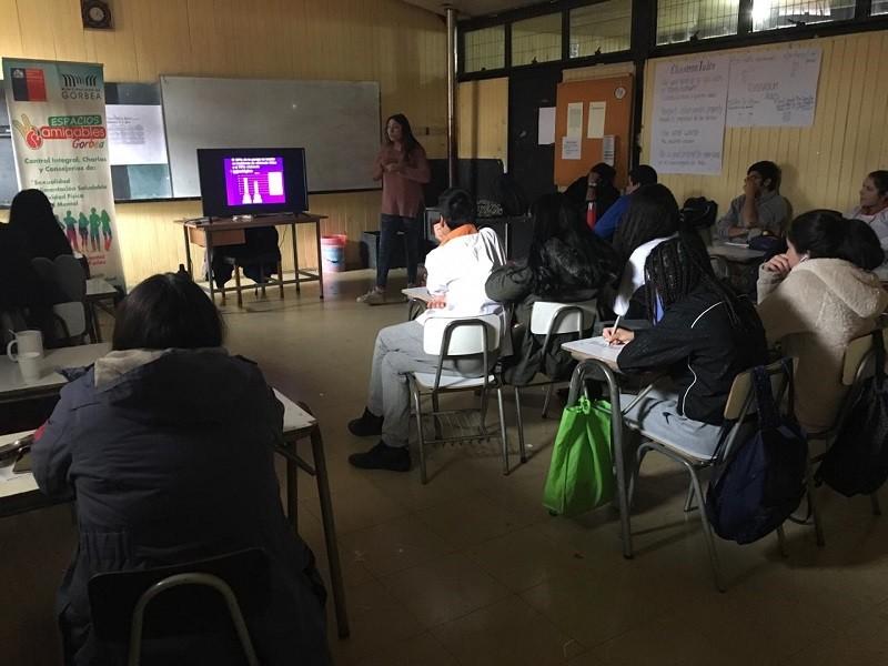 Se realizan charlas en Salud Sexual, reproductiva y Salud mental en C.E.A.A. Gorbea