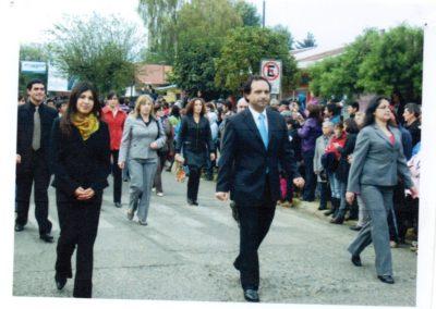 profesores escuela 6 desfile