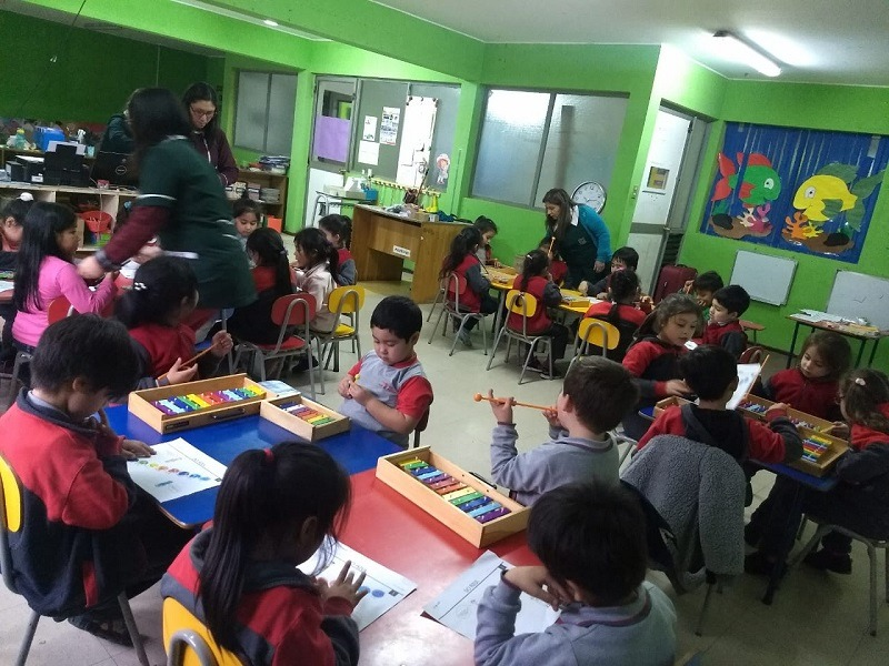 Párvulos de Escuela Presbítero realizan Taller de Música en Colores