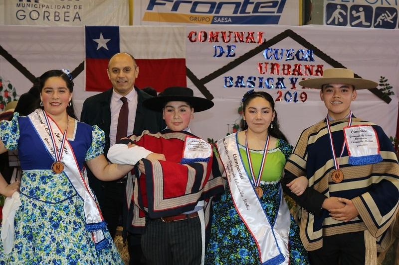 GORBEA YA TIENE CAMPEONES COMUNALES DE CUECA ESCOLAR