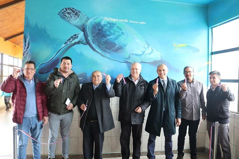 Alcalde inaugura murales educativos en escuela Presbítero José Agustín Gómez