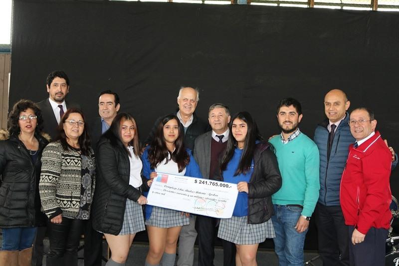 Visita de SEREMI de Educación a nuestro Complejo Educacional Andrés Antonio Gorbea