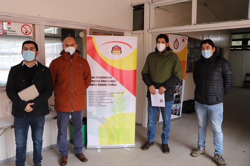 Visita inspectiva Liceo Bicentenario Andrés Antonio Gorbea. (retorno seguro)